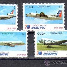 Sellos: ANIVERSARIO CUBANA. Lote 212683891