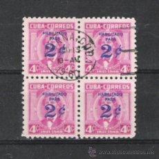 Sellos: CUBA BONITO BLOQUE SOBRECARGADO . Lote 22815136