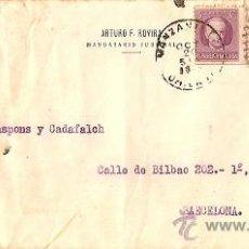 Sellos: SOBRE CIRCULADO MANZANILLA CUBA A BARCELONA AÑO 1942 - DE ARTURO ROVIRA MANDATARIO JUDICIAL. Lote 24692862