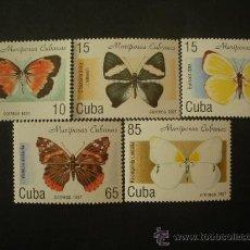 Sellos: CUBA 1997 IVERT 3622/6 *** FAUNA - MARIPOSAS . Lote 27537049