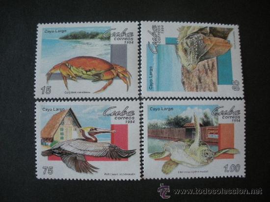 CUBA 1994 IVERT 3396/9 *** TURISMO - FAUNA - ANIMALES DE CAYO LARGO (Sellos - Extranjero - América - Cuba)