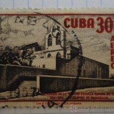 Sellos: SELLO DE CUBA. 30 CENTAVOS. AÉREO. MATASELLADO.. Lote 28496392
