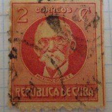Sellos: SELLO DE CUBA. ROJO. 2 CENTAVOS. AÉREO. MATASELLADO. MÁXIMO GÓMEZ.. Lote 28496521