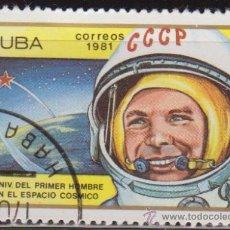 Francobolli: CUBA 1981 SCOTT 2400 SELLO * ASTRONAUTA ANIV. 1º HOMBRE EN EL ESPACIO YURI GAGARIN MICHEL 2549. Lote 28537575