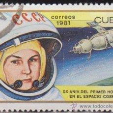 Francobolli: CUBA 1981 SCOTT 2401 SELLO * ASTRONAUTA ANIV. 1º HOMBRE EN EL ESPACIO V.TERESHKOVA 1ª WOMAN IN SPACE. Lote 28537584