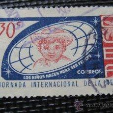 Sellos: 1963 CUBA, JORNADA DE LA INFANCIA, YVERT 670. Lote 29286523