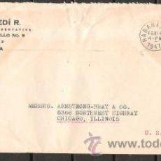 Sellos: A37-CARTA DE HABANA CUBA 1947 CHICAGO ILLINOIS HAVANA CUBA 1947 LETTER. Lote 32101453