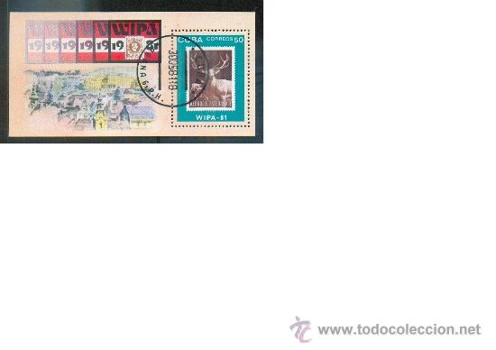 HOJA BLOQUE WIPA 81- TEMÁTICA FAUNA (Sellos - Extranjero - América - Cuba)