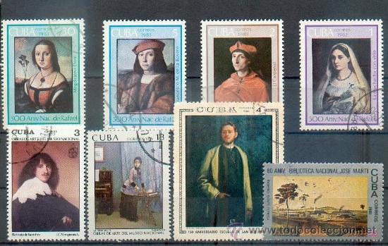CUBA.- PINTURAS DIVERSAS MUSEO NACIONAL- TEMÁTICA PINTURAS (Sellos - Extranjero - América - Cuba)