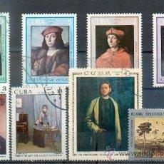 Sellos: CUBA.- PINTURAS DIVERSAS MUSEO NACIONAL- TEMÁTICA PINTURAS. Lote 33553570