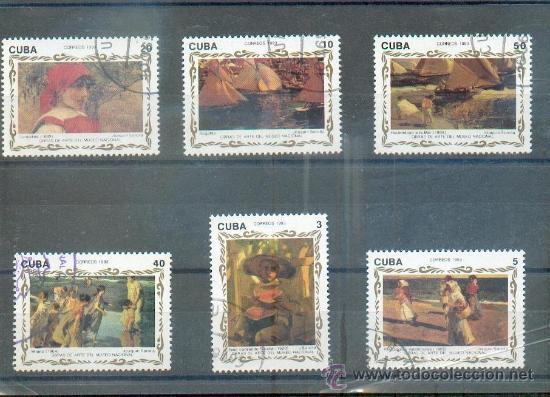 PINTURAS MUSEO NACIONAL.- TEMÁTICA PINTURAS (Sellos - Extranjero - América - Cuba)
