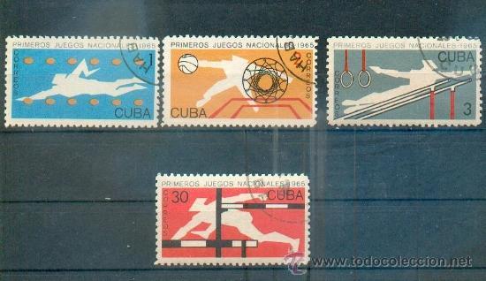 PRIMEROS JUEGOS NACIONALES.-1965 TEMÁTICA DEPORTES (Sellos - Extranjero - América - Cuba)