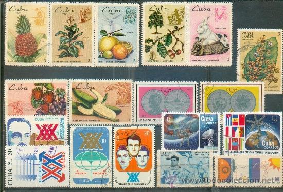 18 SELLOS CONMEMORATIVOS DIFERENTES (Sellos - Extranjero - América - Cuba)