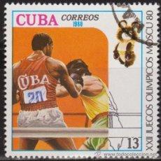 Francobolli: CUBA 1980 SCOTT 2311 SELLO * DEPORTES SPORT JJOO MOSCU OLIMPIADAS BOXEO BOXING MICHEL 2460 YV. 2176. Lote 33794997