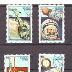 Sellos: CUBA - 308 ANIVERS DEL 1º HOMBRE EN EL ESPACIO 1986. Lote 122274058