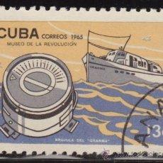 Francobolli: CUBA 1965 SCOTT 988 SELLO * MUSEO DE LA REVOLUCIÓN BRUJULA DEL BARCO GRANMA MICHEL 1050 YVERT 880. Lote 36228113
