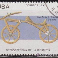 Timbres: CUBA 1993 SCOTT 3494 SELLO * BICICLETAS DISEÑADA POR VON DRAIS DE SAUERBRONN DRAISINA 1813 5C CUBA. Lote 36229669