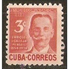 Sellos: CUBA YVERT NUM. 398 * NUEVO CON FIJASELLOS. Lote 36555520
