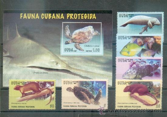 FAUNA CUBANA PROTEGIDA - SERIE COMPLETA DE 2007 (Sellos - Extranjero - América - Cuba)