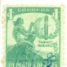 Sellos: 2CUBA-257. SELLO USADO CUBA. YVERT Nº 257. TABACO HABANO. Lote 39846498