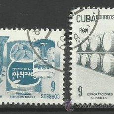 Sellos: CUBA 1982 SELLOS DE EXPORTACIONES CUBANAS. Lote 41766729