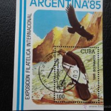 Sellos: CUBA. HB 89 EXPOSICIÓN ARGENTINA'86: BUITRE. 1986. SELLOS USADOS Y NUMERACIÓN YVERT. Lote 42573505