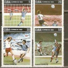Sellos: CUBA YVERT NUM. 2386/89 SERIE COMPLETA USADA COPA DEL MUNTO DE FUTBOL ESPAÑA´82. Lote 43771845