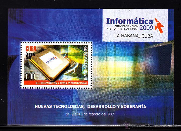 CUBA HB 253** - AÑO 2009 - INFORMÁTICA 2009, EXPOSICIÓN MUNDIAL DE NUEVAS TECNOLOGÍAS (Sellos - Extranjero - América - Cuba)