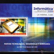 Sellos: CUBA HB 253** - AÑO 2009 - INFORMÁTICA 2009, EXPOSICIÓN MUNDIAL DE NUEVAS TECNOLOGÍAS. Lote 44652346