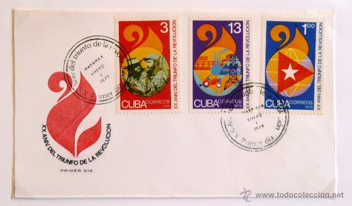CUBA. SOBRE FILATELICO 1º DIA. XX ANIVERSARIO TRIUNFO DE LA REVOLUCION. LA HABANA 1979. (Sellos - Extranjero - América - Cuba)