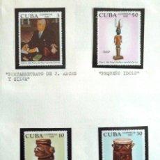Sellos: SELLOS CUBA 1981. CENTENARIO NACIMIENTO DE FERNANDO ORTIZ. 4 VALORES NUEVOS.. Lote 46175359