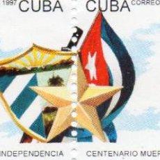 Sellos: CUBA - AÑO 1997 - Nº YVERT 3630-31 CENTENARIO MUERTE GENERALES GUERRA INDEPENDENCIA - SELLOS NUEVOS. Lote 46835638