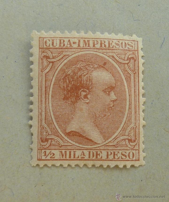 CUBA 1894. ALFONSO XIII, 1/2 MILESIMA ESPAÑOLA (Sellos - Extranjero - América - Cuba)