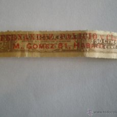 Sellos: DECRETO 1939 CUBA. PRECINTO TABACOS 30 CTMS FISCAL IMPUESTO EMPRESTITO SOBRECARGA FERNANDEZ PALICIO. Lote 47963234