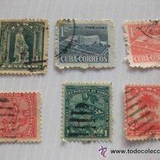 Sellos: LOTE DE 6 SELLOS ANTIGUOS DE CUBA... Lote 48527833