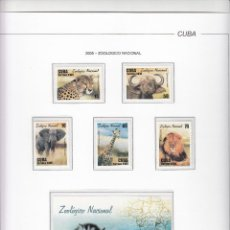 Sellos: CUBA 2005 - ZOOLOGICO NACIONAL - 5 SELLOS + HOJITA. Lote 48761067