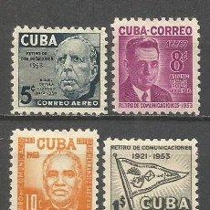 Sellos: CUBA CORREO YVERT NUM. 90/3 * SERIE COMPLETA CON FIJASELLOS. Lote 48814071