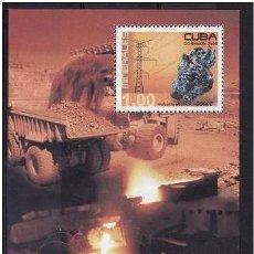 Sellos: CUBA 2004 - MINERALES - HOJITA BLOQUE. Lote 49154937
