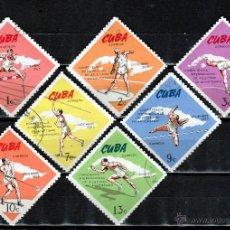 Sellos: CUBA 1965 ( W201) SERIE. 7º ANIV, CAMPEONATO INTERNACIONAL DE ATLETISMO *.MH. Lote 49955003