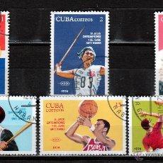 Sellos: CUBA 1974 ( W203) SERIE. XII. JUEGOS DE AMERICA CENTRAL ,CARIBE Y STO.DOMINGO. *.MH. Lote 49955065