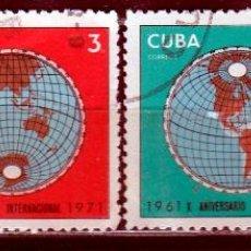 Sellos: CUBA 1971. ( W204) SERIE. 10º ANIV. SERVICIOS DE RADIOFUSION *.MH. Lote 49955076
