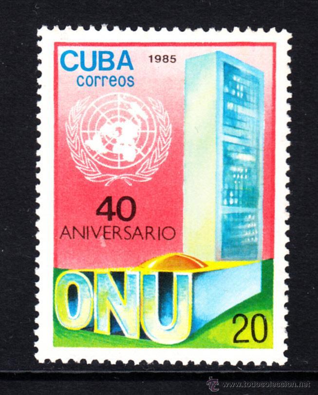 CUBA 2652** - AÑO 1985 - 40º ANIVERSARIO DE NACIONES UNIDAS (Sellos - Extranjero - América - Cuba)