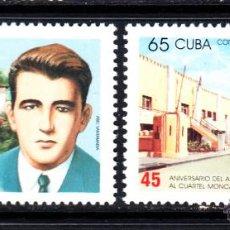 Sellos: CUBA 3732/33** - AÑO 1998 - 45º ANIVERSARIO DEL ASALTO AL CUARTEL MONCADA. Lote 50316712