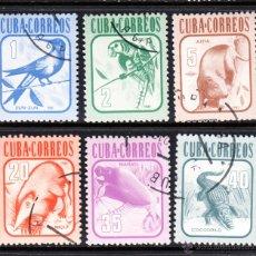 Sellos: CUBA 2316/21 - AÑO 1981 - FAUNA - AVES. Lote 143011321