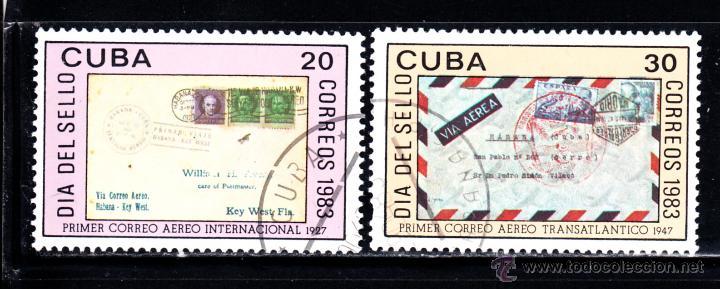 CUBA 2436/37 - AÑO 1983 - DIA DEL SELLO (Sellos - Extranjero - América - Cuba)