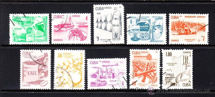 CUBA 2336/45 - AÑO 1982 - EXPORTACIONES CUBANAS (Sellos - Extranjero - América - Cuba)