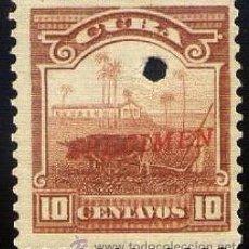 Sellos: CUBA 1905 ** SPECIMEN PERFORADO. Lote 33338834