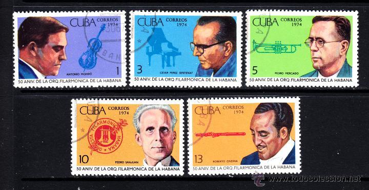 CUBA 1774/78 - AÑO 1974 - MÚSICA - 50º ANIVERSARIO DE LA ORQUESTA FILARMÓNICA DE LA HABANA (Sellos - Extranjero - América - Cuba)