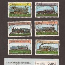 Sellos: AMG-14_CUBA SELLOS LOCOMOTORAS ANTIGUAS 1984. Lote 51602873
