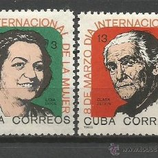 Sellos: CUBA YVERT NUM. 827/828 * SERIE COMPLETA CON FIJASELLOS. Lote 51772188